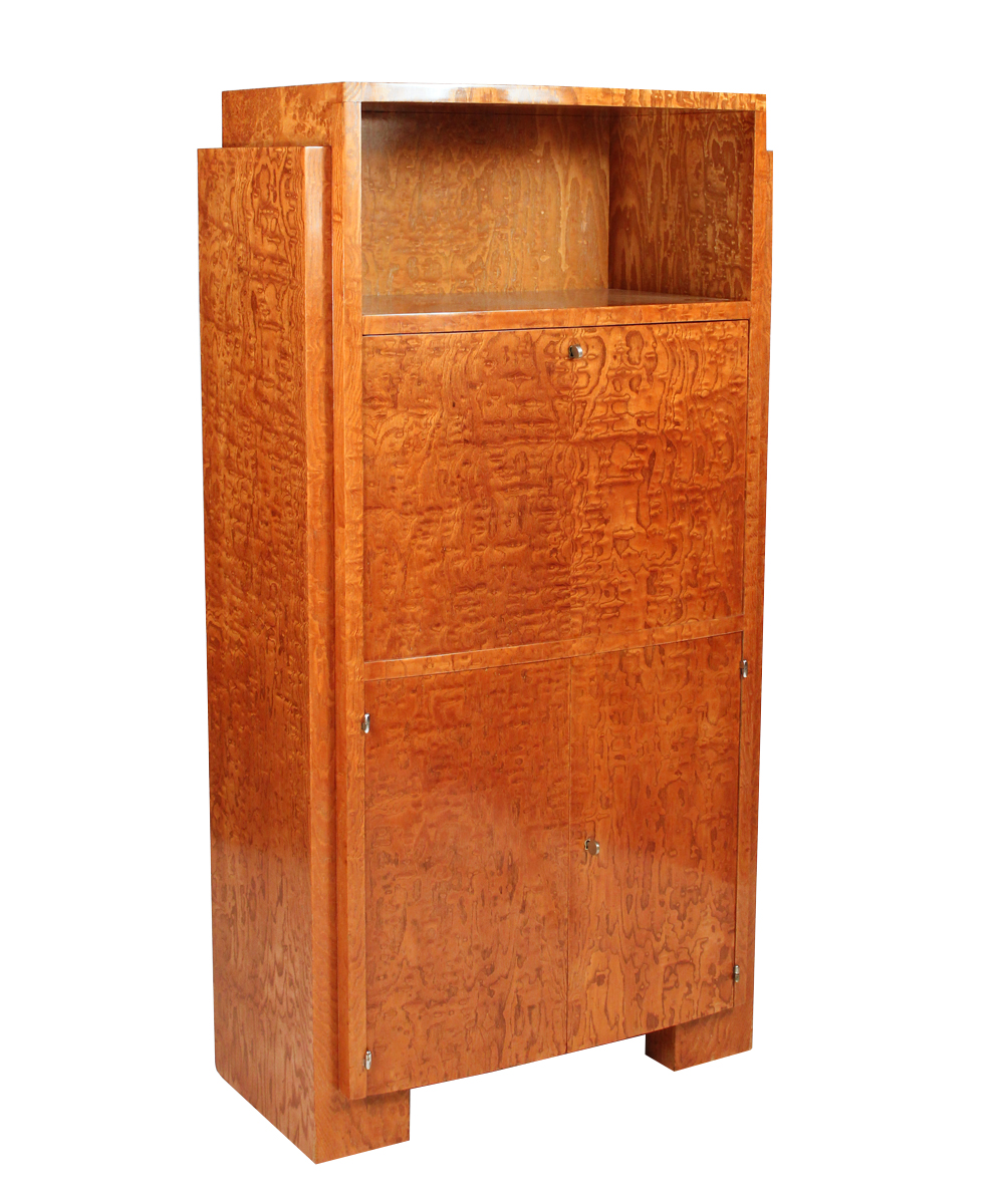 french art deco secretary desk in amboina by jaques adnet modernism. Black Bedroom Furniture Sets. Home Design Ideas