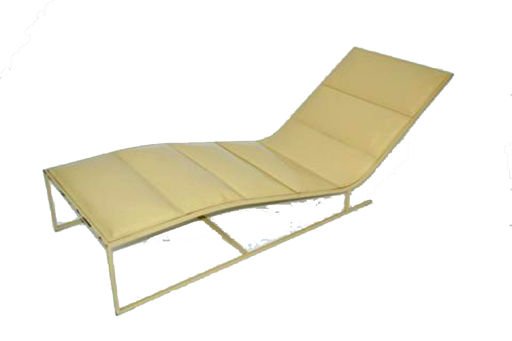 great cantilevered seventies vinyl chaise lounge modernism