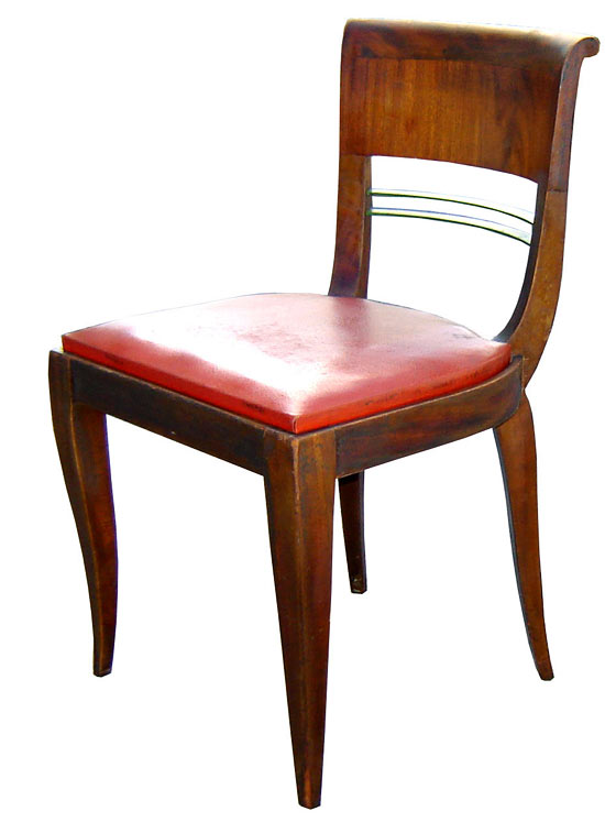 Famous Six French Art Deco Dining Chairs | Modernism SZ63