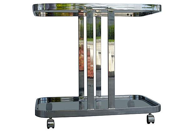 Mid Century Modern Chrome Gl Bar Cart Tea Trolley Modernism