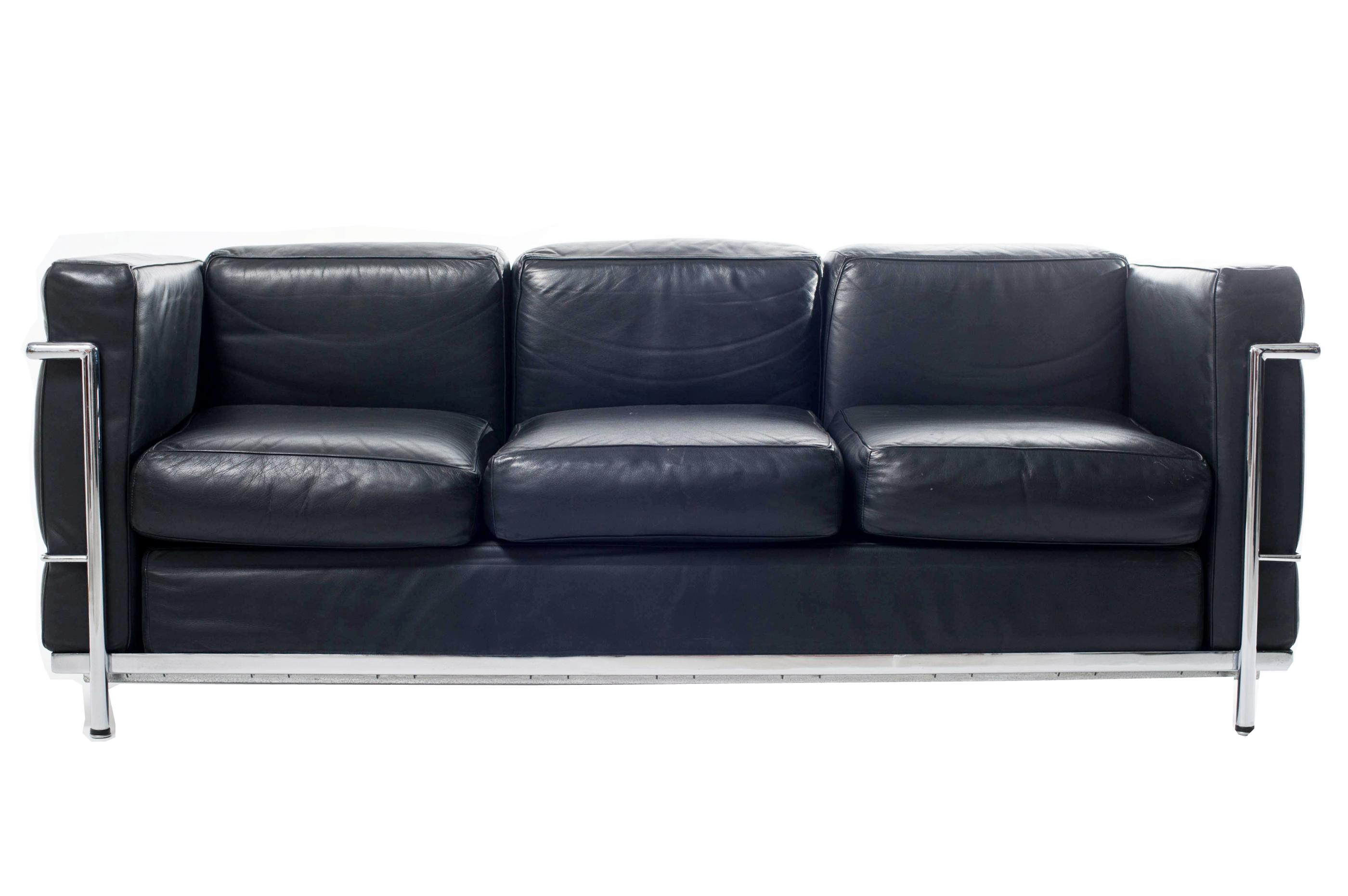 sofa lc3 le corbusier alivar 1928 italian design. Black Bedroom Furniture Sets. Home Design Ideas