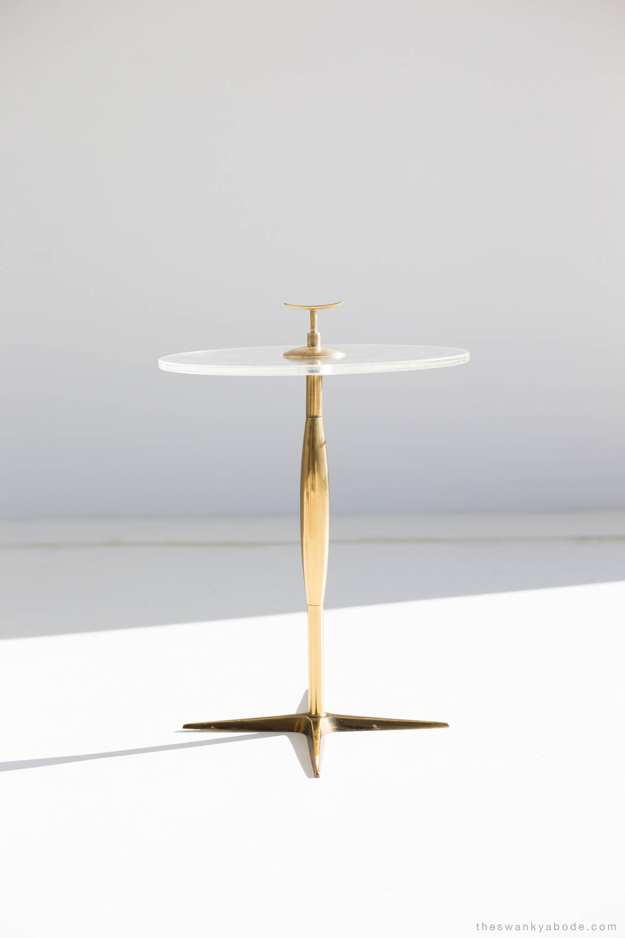 stiffel brass and lucite side table - Lucite Table