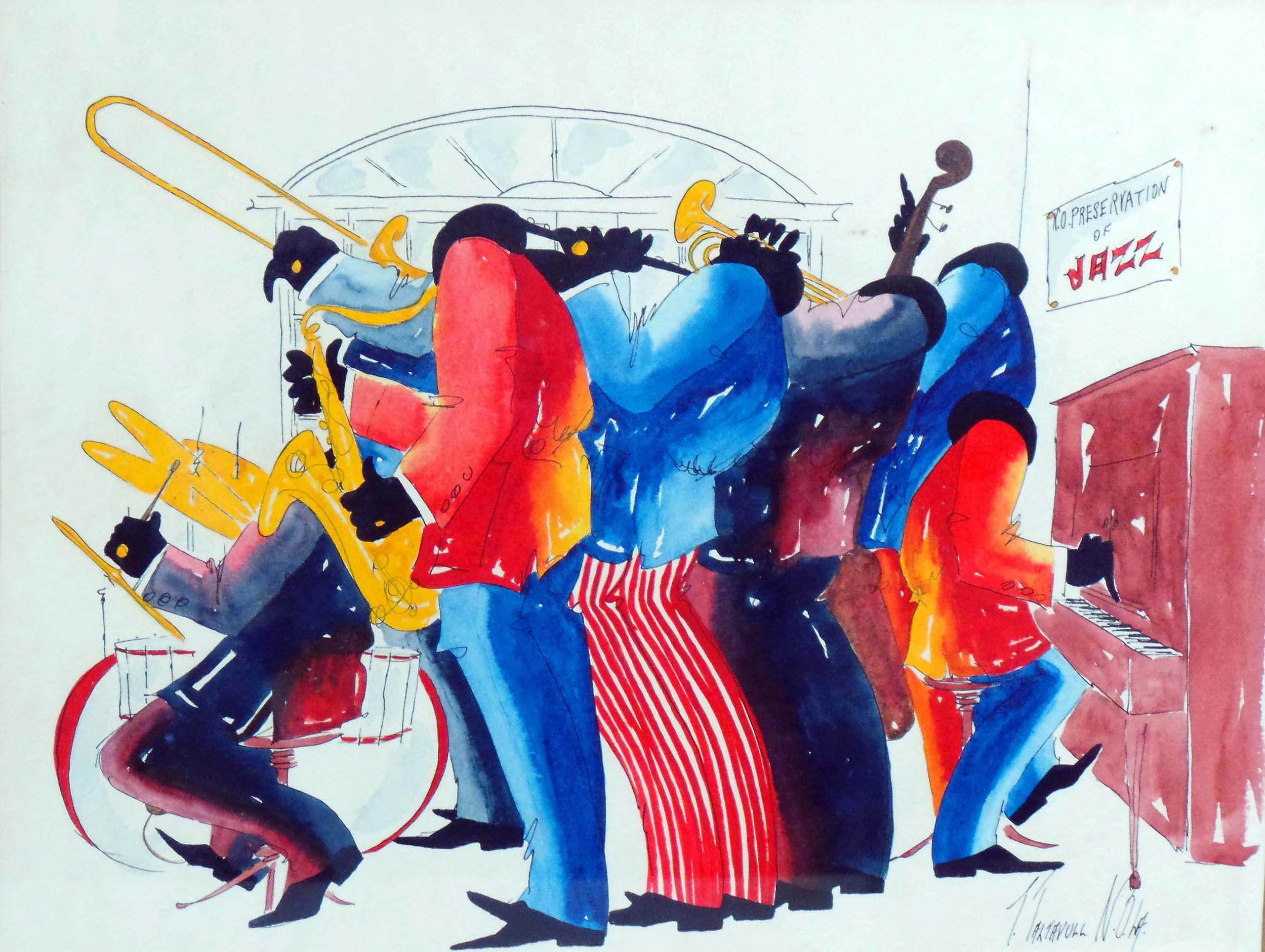 New Orleans Jazz Players By T Taltavull Modernism
