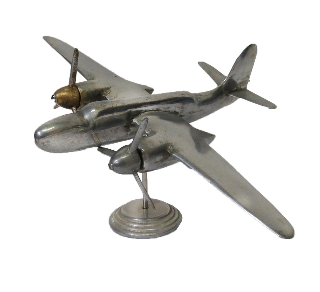 Vintage Cast Aluminum Airplane Model Modernism
