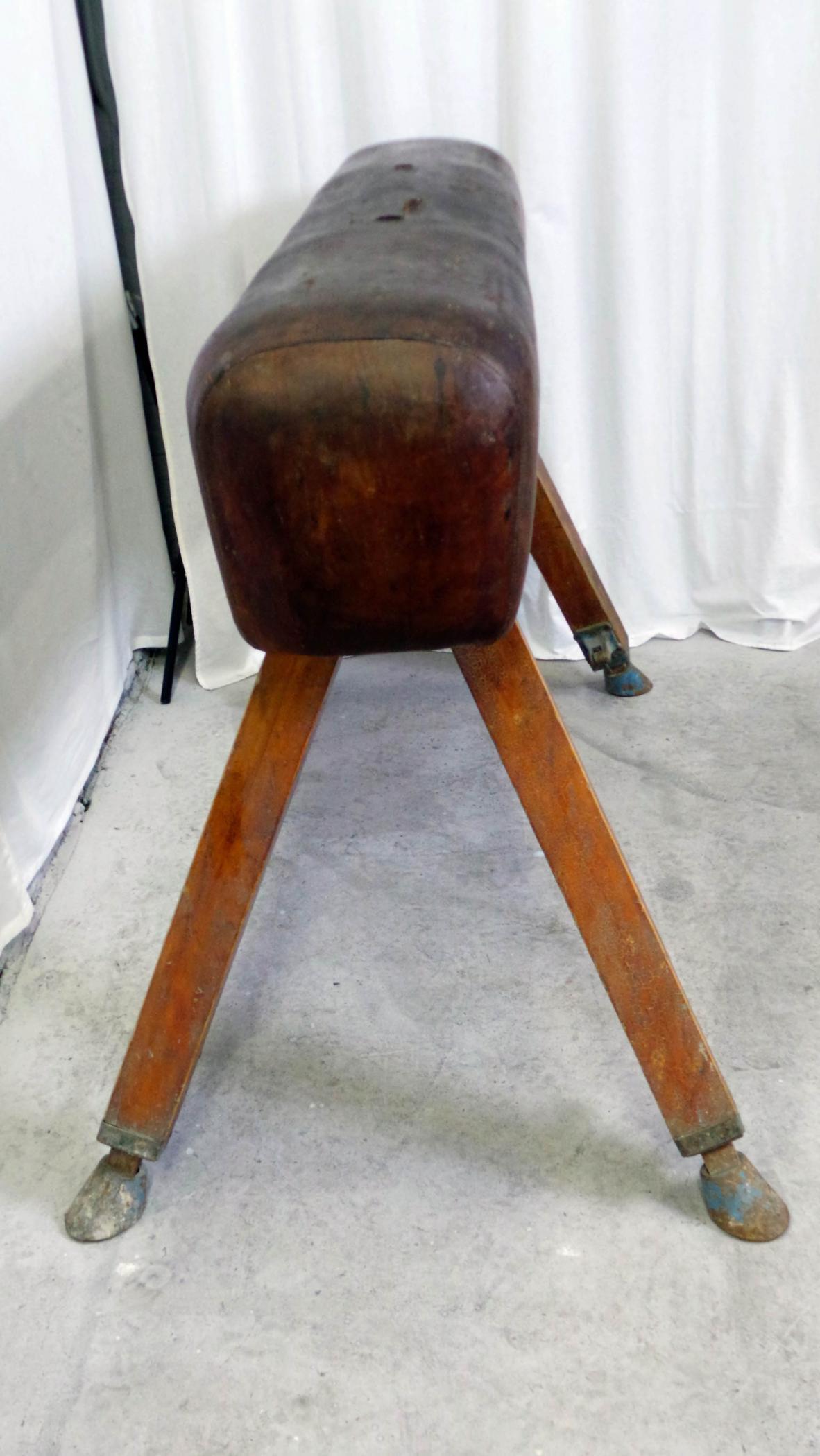 Vintage Pommel Horse Adjustable Height Modernism