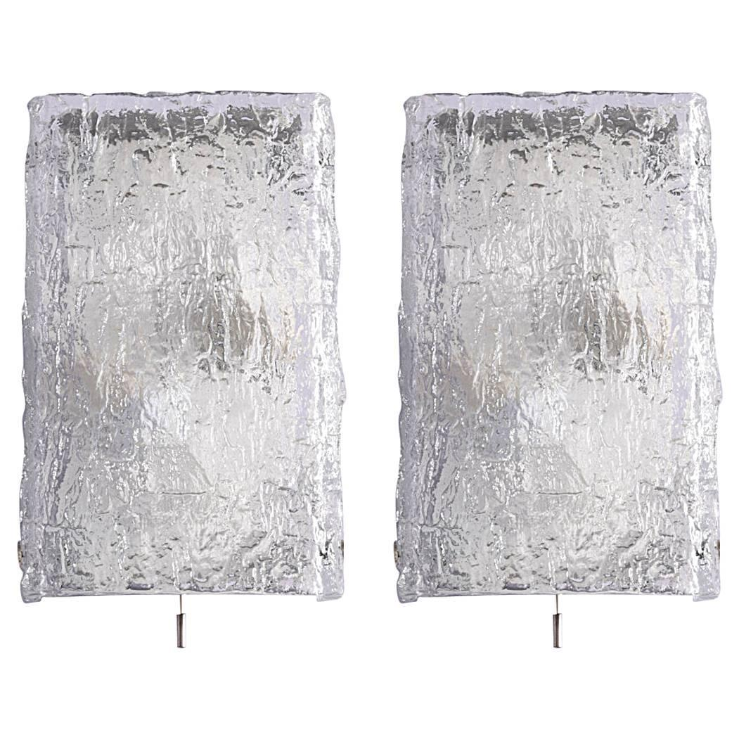 Pair of wall lights from venini murano modernism pair of wall lights from venini murano mozeypictures Gallery