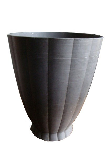 Keith Murray Wedgwood Black Basalt Vase Modernism