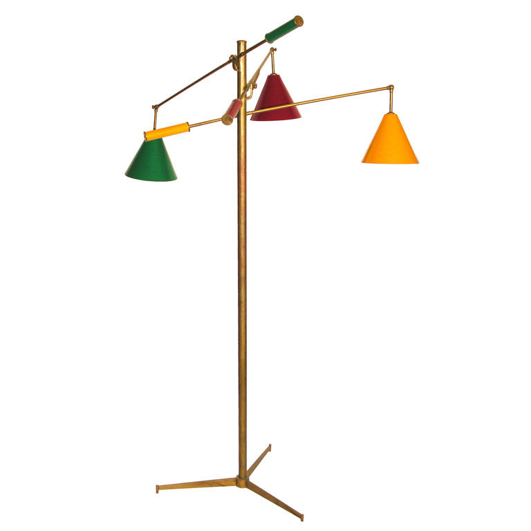 An Arredoluce Mid Century Modern Floor Lamp