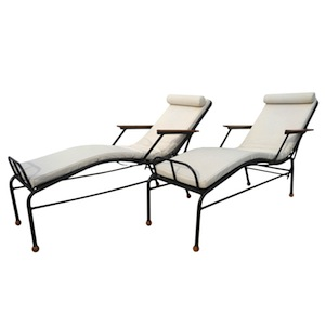 pair of chaises longues chairs by jean prouv modernism. Black Bedroom Furniture Sets. Home Design Ideas