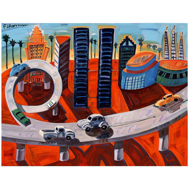 Cheech S Downtown Limited Giclee Print By Frank Romero