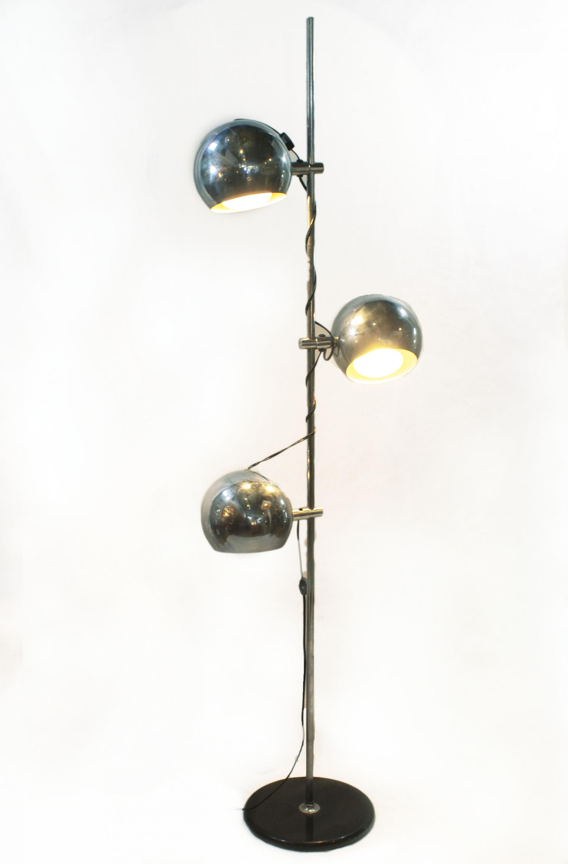 Mid-Century Modern Chrome Eyeball Floor Lamp | Modernism