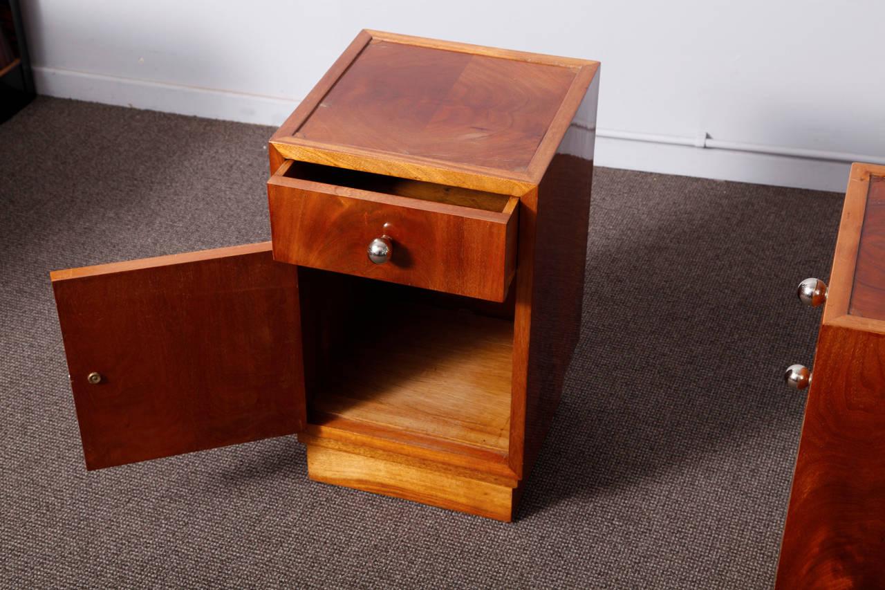 Pair of art deco nightstands modernism Things to use as nightstands