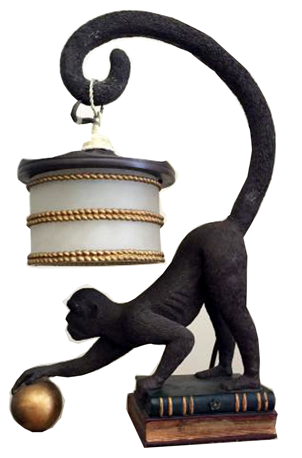 Amazing Art Deco Monkey Lamp American 1940s Modernism