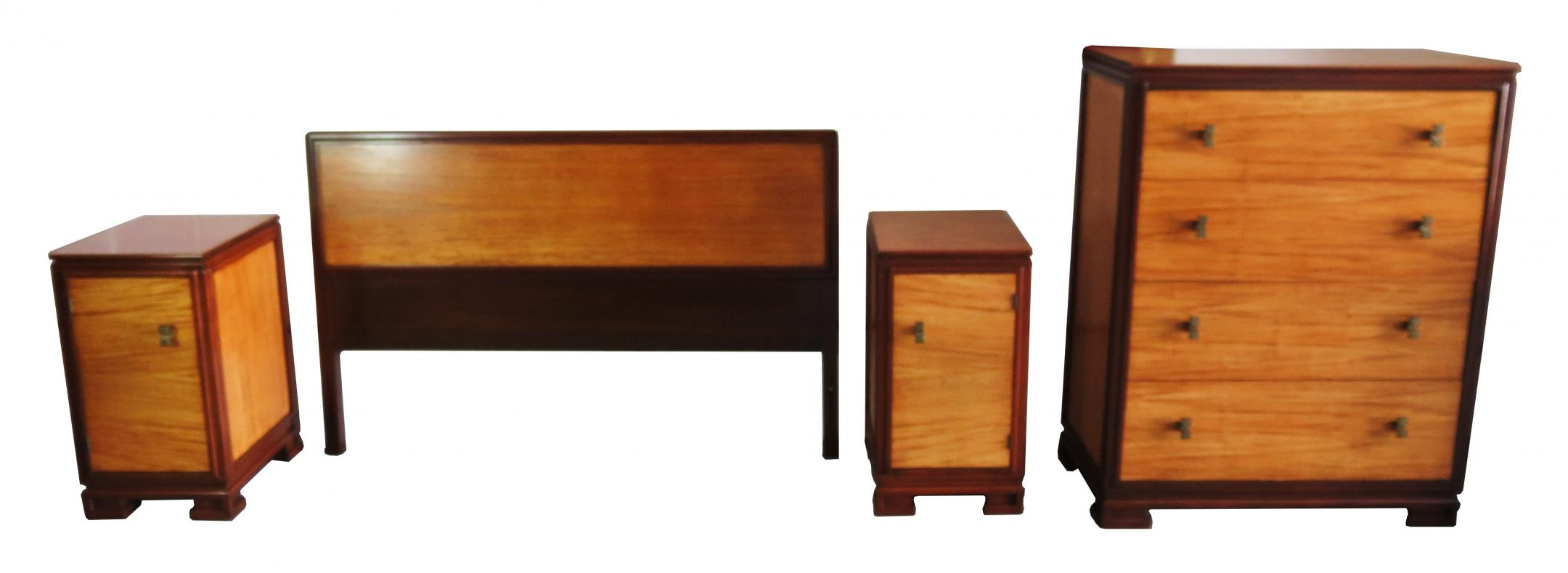 Donald Deskey For Amodec American Art Deco Bedroom Set | Modernism