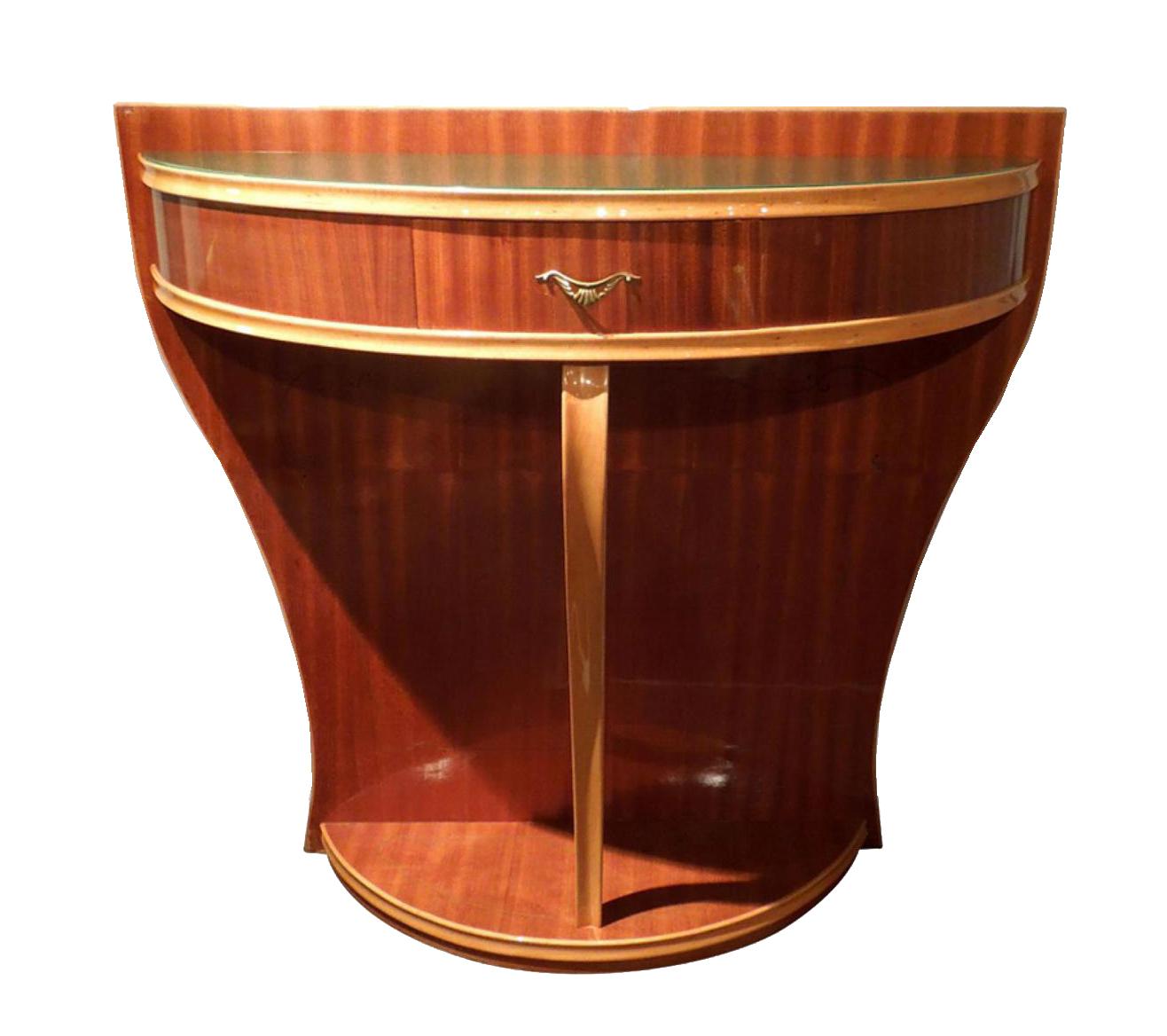 deco console table modernism. Black Bedroom Furniture Sets. Home Design Ideas