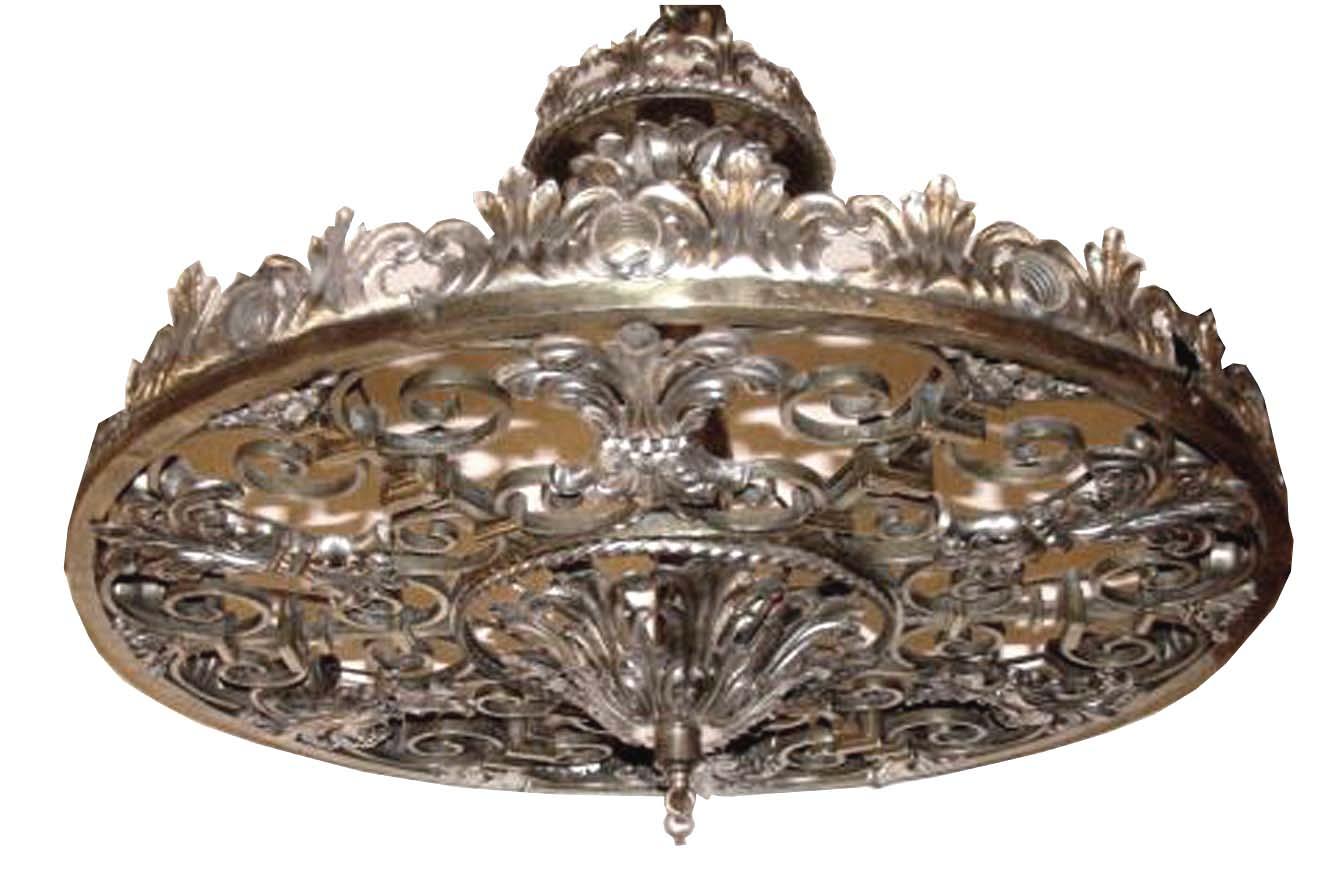 ornate lighting. ornate nickel bronze art deco theater light chandelier lighting