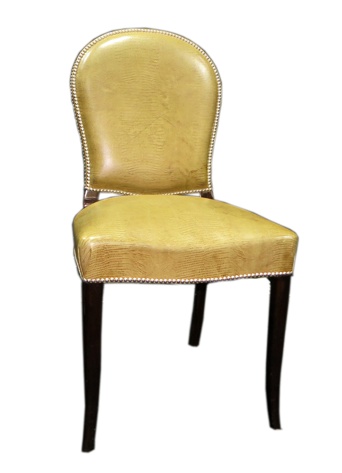 Charmant Art Deco Chairs In Leather From The Hotel Nogaro 1930s