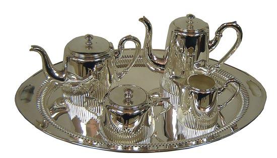 Austrian Art Deco Five Piece Silver Plate Tea Service  sc 1 st  Modernism & Austrian Art Deco Five Piece Silver Plate Tea Service | Modernism
