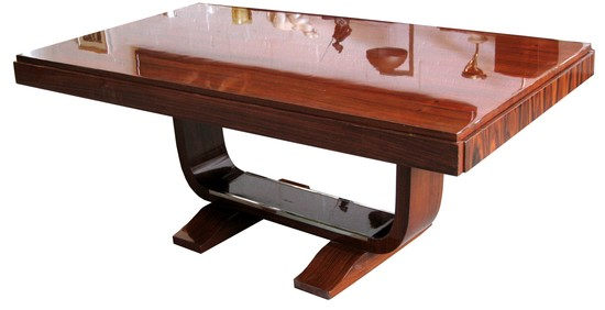 French art deco rosewood dining table modernism - Table de nuit art deco ...
