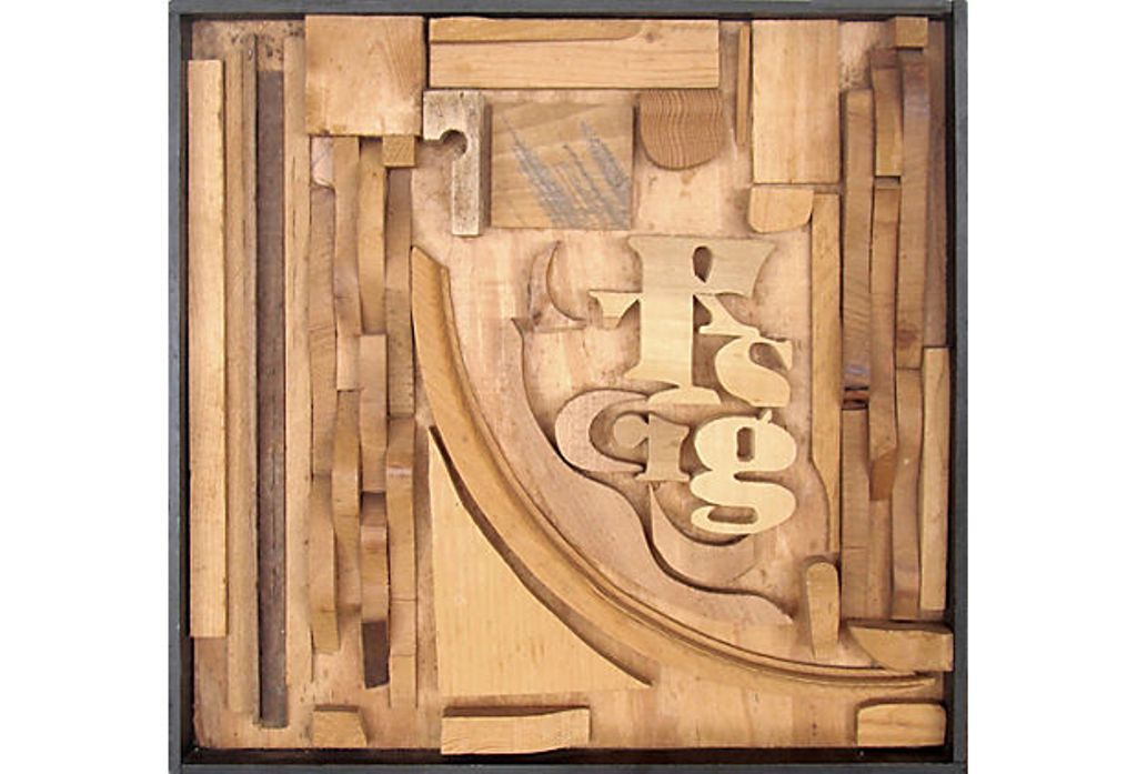 Mid Century Modern Wood Assemblage Wall Sculpture | Modernism