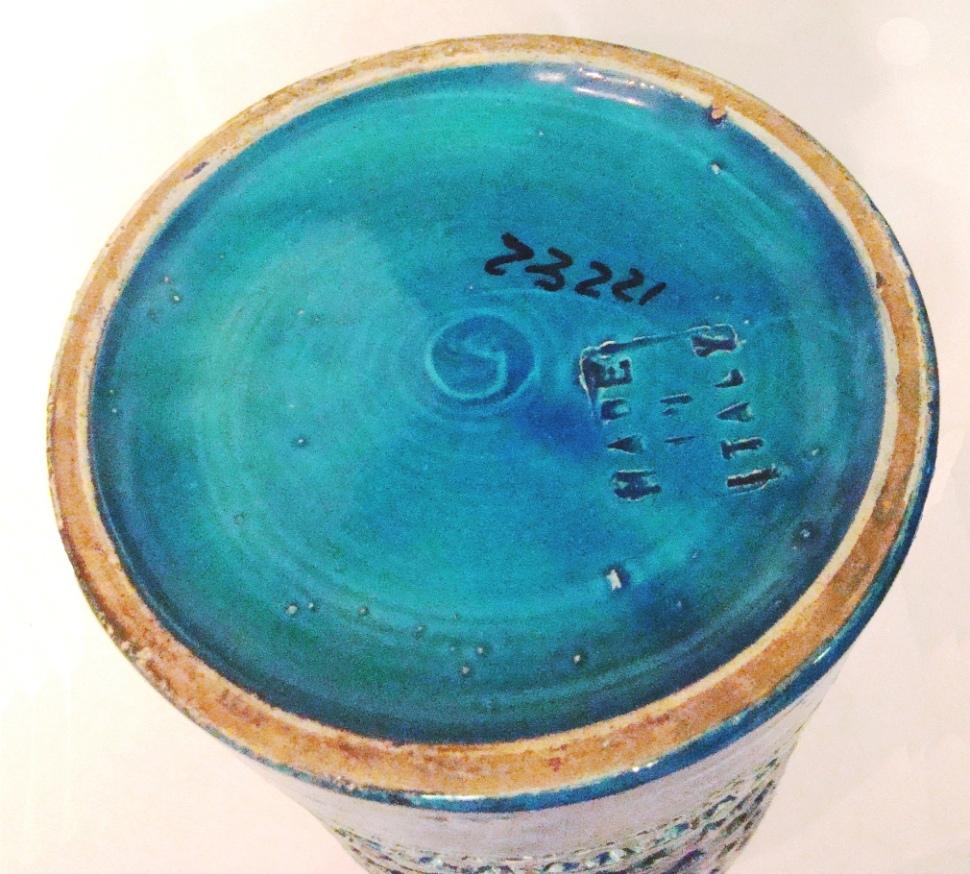 Mid Century Modern Vase By Bitossi Aldo Londi From Italy
