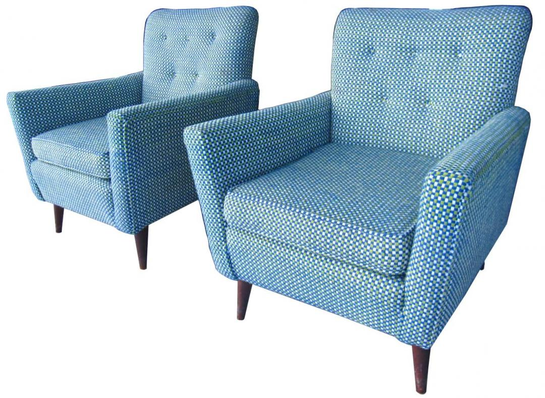 Picture of: Pair Of Mid Century Modern American Club Chairs Modernism