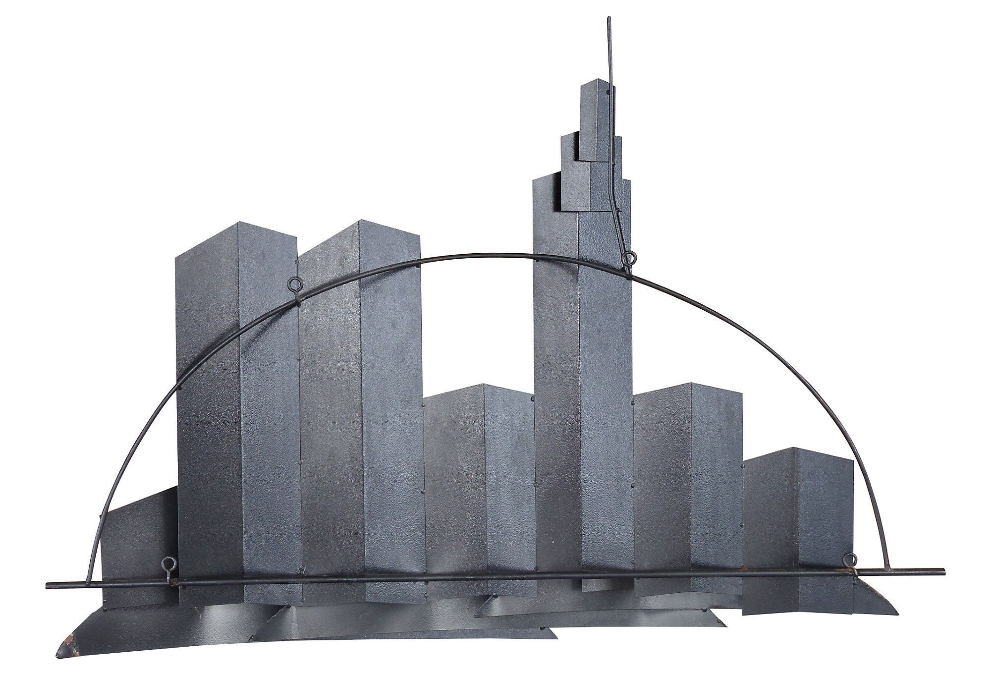 New York City Skyline Wall Sculpture By Curtis Jere