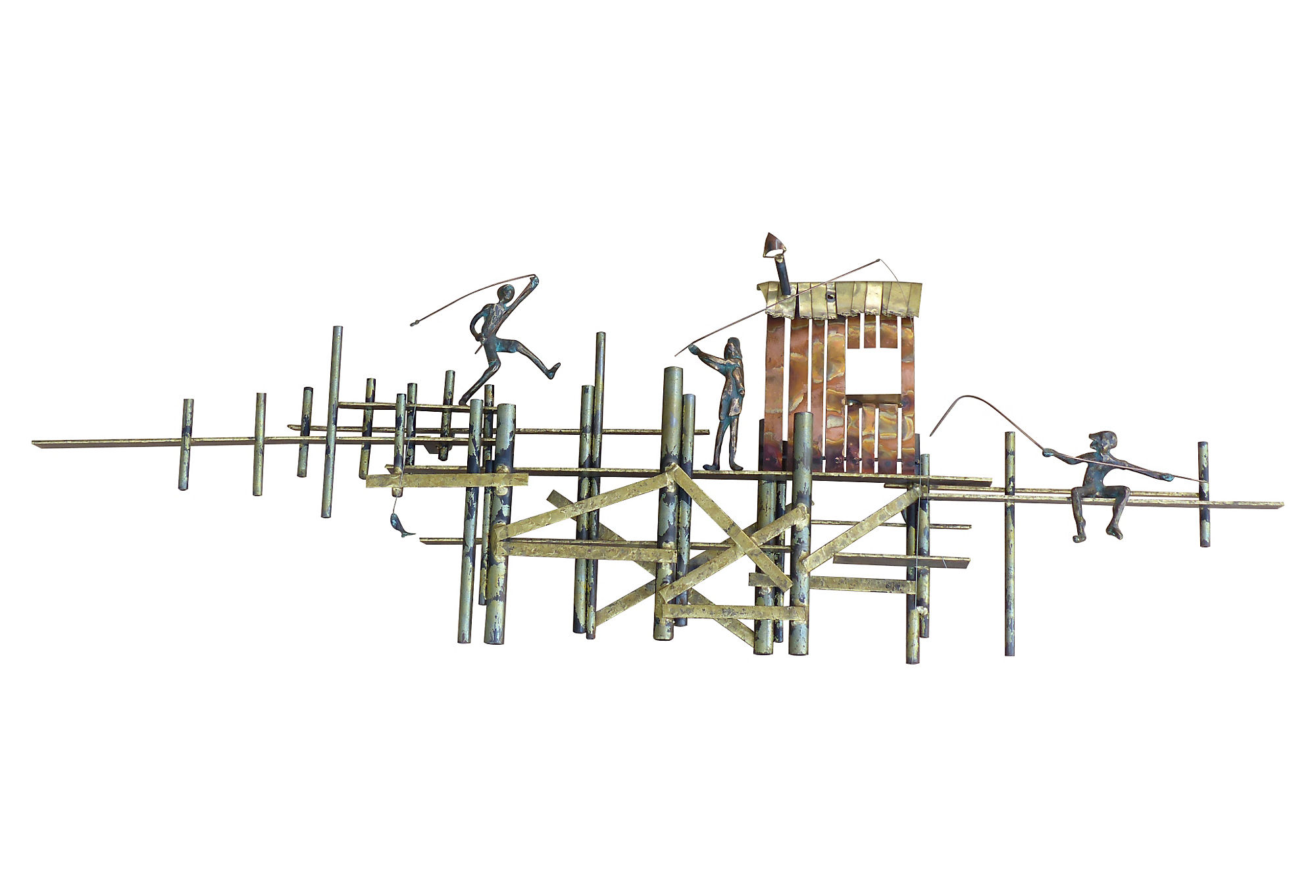 Mixed Metal Wall Sculpture By Curtis Jere For Artisan