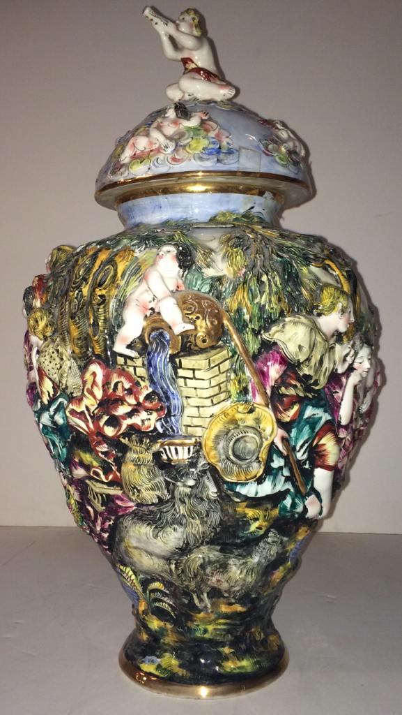 Capodimonte Urn Vase Modernism