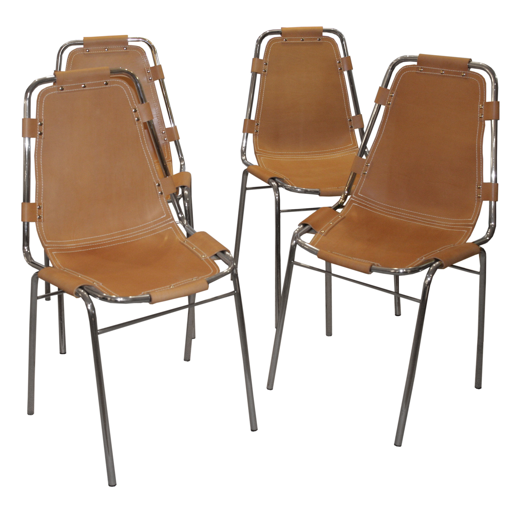 A Set Of 4 Charlotte Perriand Chairs Modernism