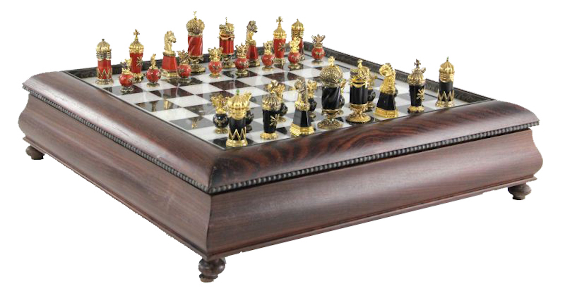 The Faberge Imperial Chess Set By Igor Carl Faberge