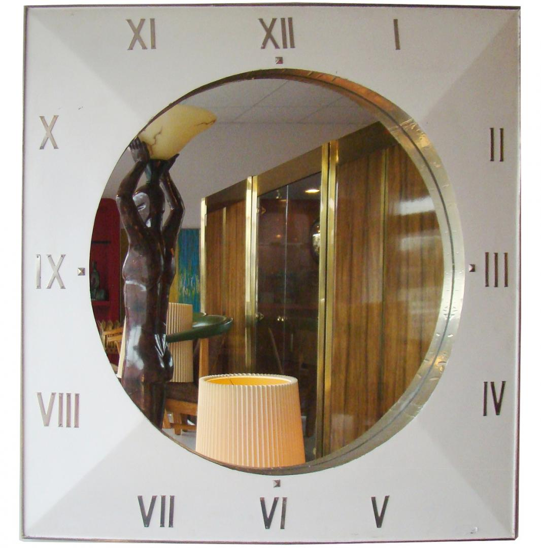 Large Dimensional Clock Face Mirror With Roman Numerals