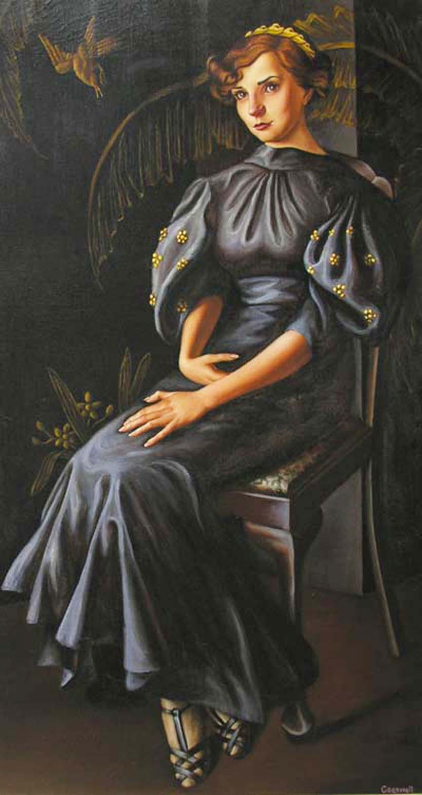 Dorothy Cogswell American Portrait Art Deco Painting