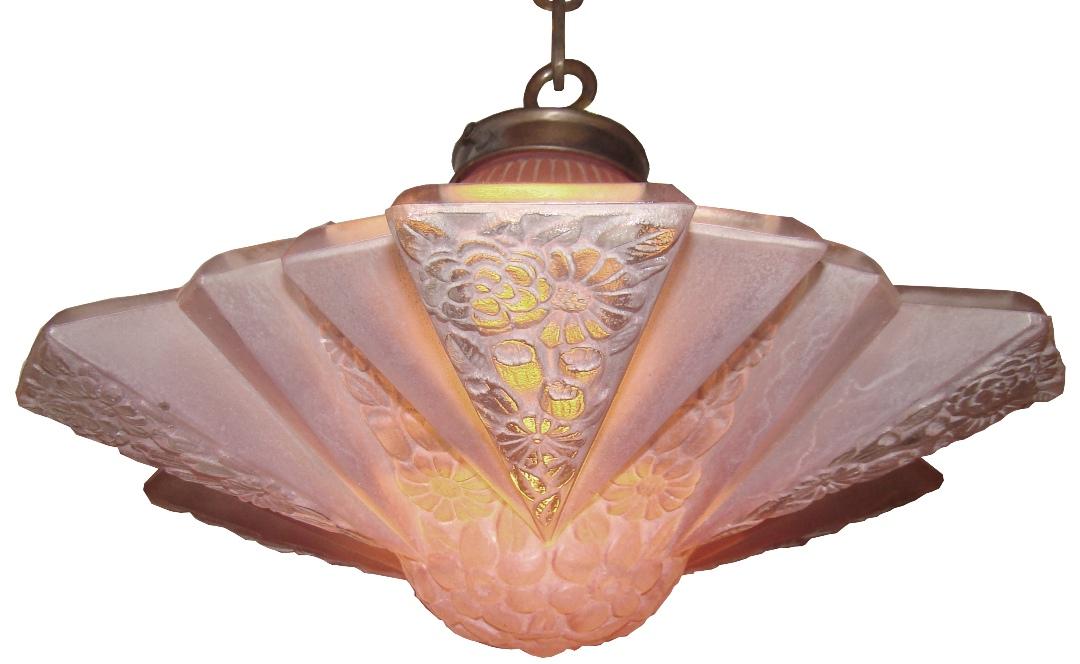 Consolidated Modernizer Glass Shade 1930 S Art Deco Light