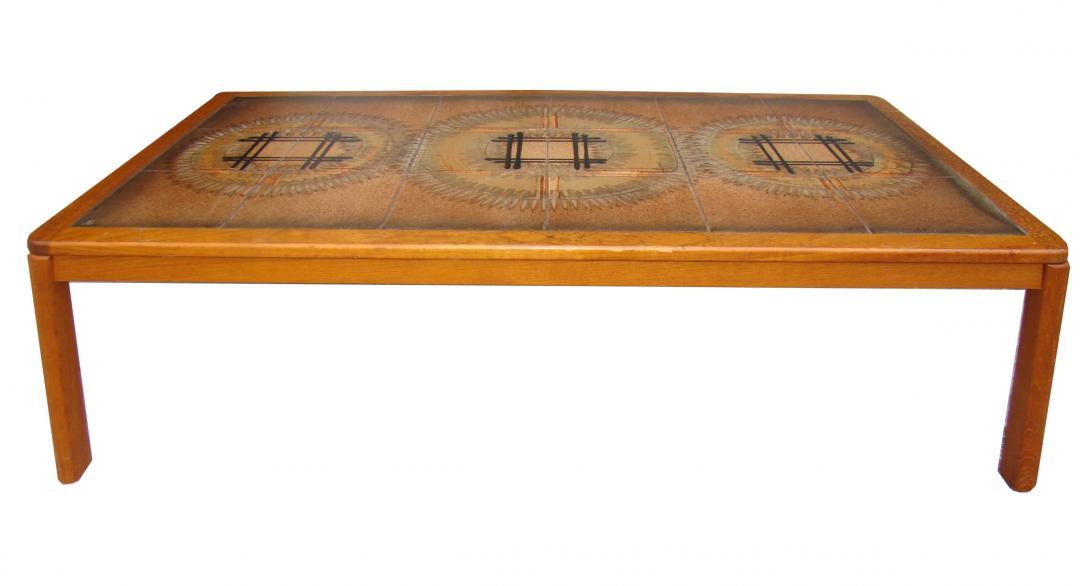 Danish Modern Tile Top Coffee Table Modernism