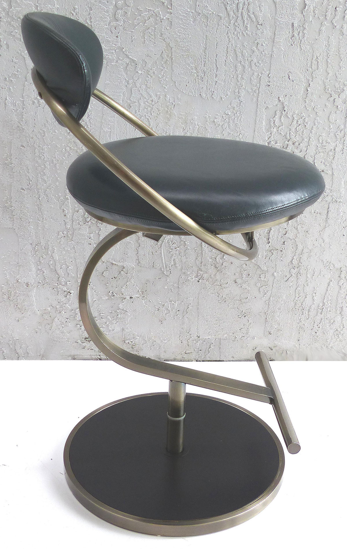 Design Institute Of America Leather Swivel Counter Stools