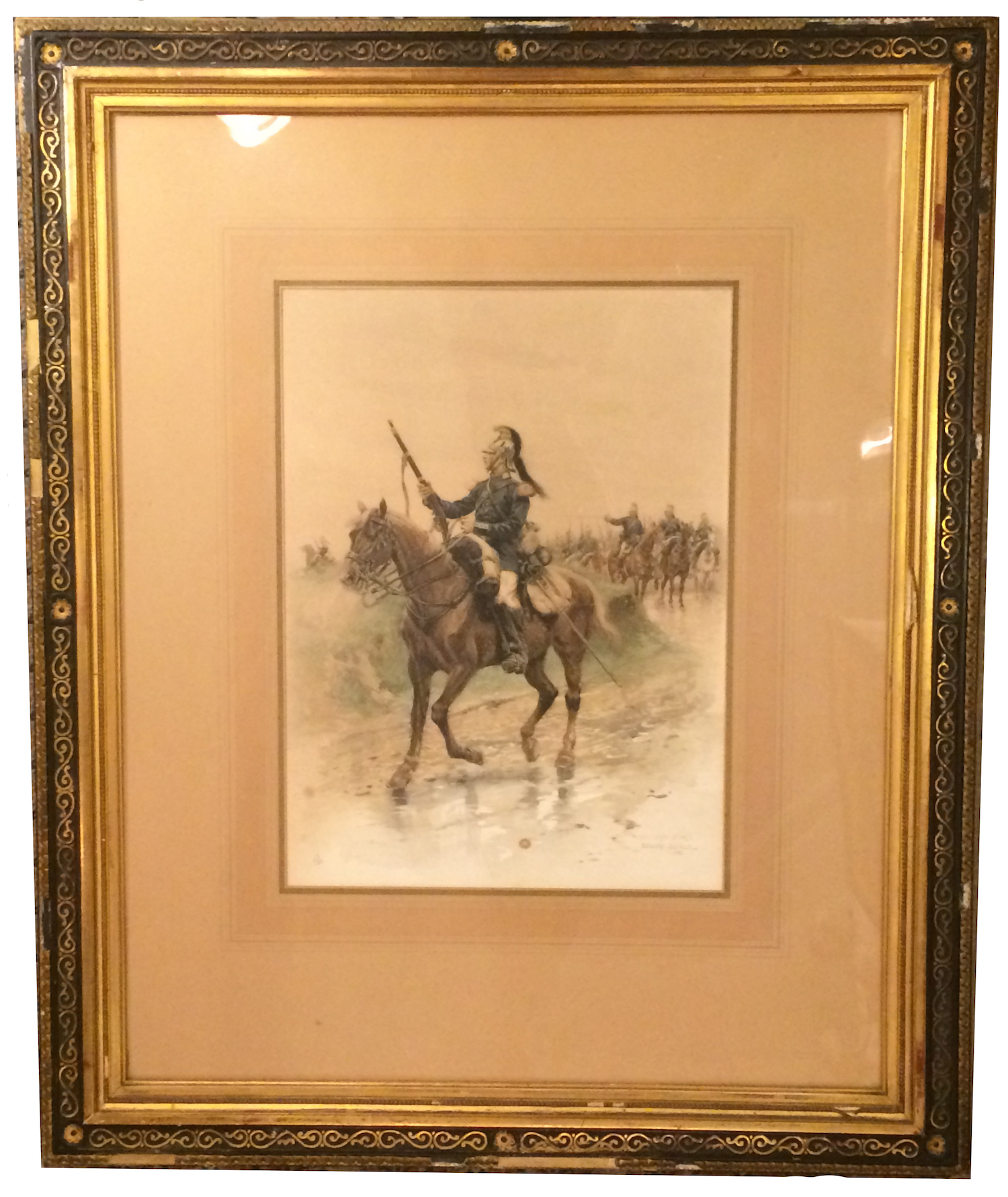 Edouard Detaille French Army Painting Soldier On Horse | Modernism