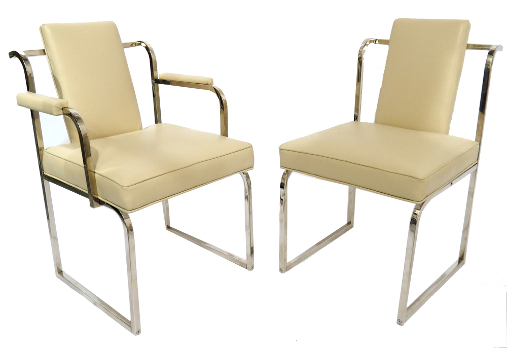 Donald Deskey American Art Deco Chair And Armchair