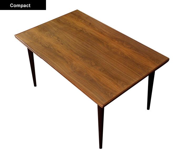 Narrow Mid Century Danish Dining Table Modernism