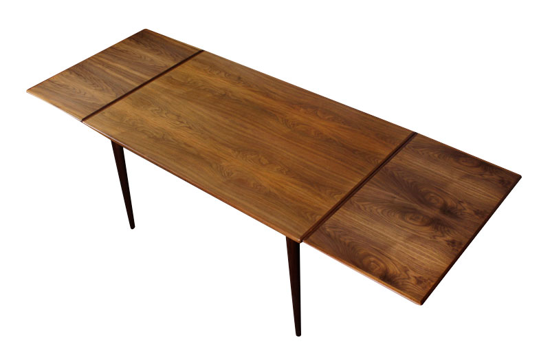 Narrow Mid Century Danish Dining Table Modernism