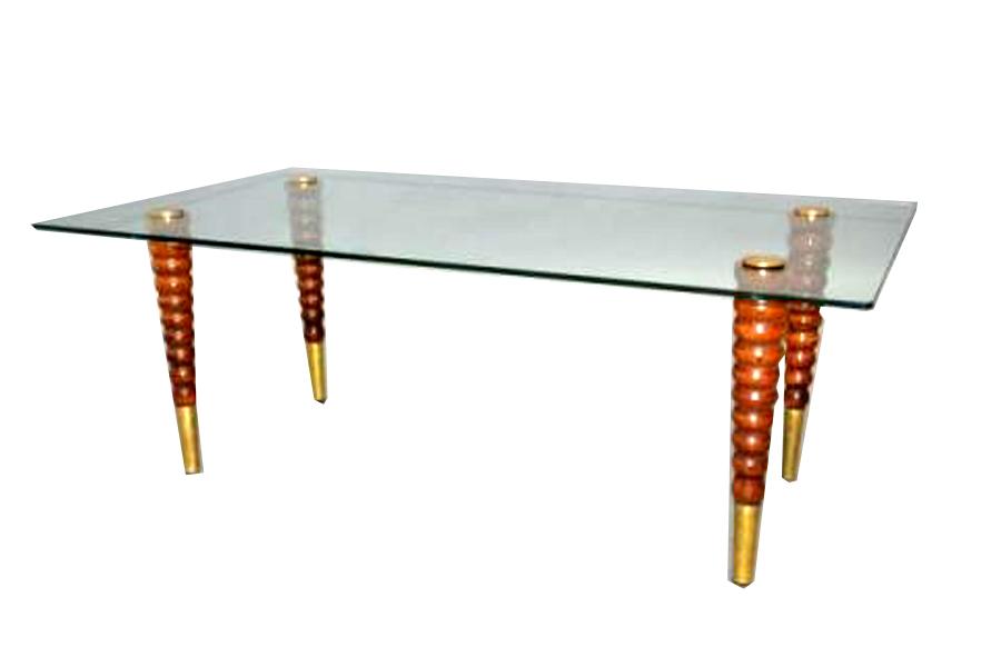 Italian forties streamline coffee table with glass top - Coffee table italian design ...