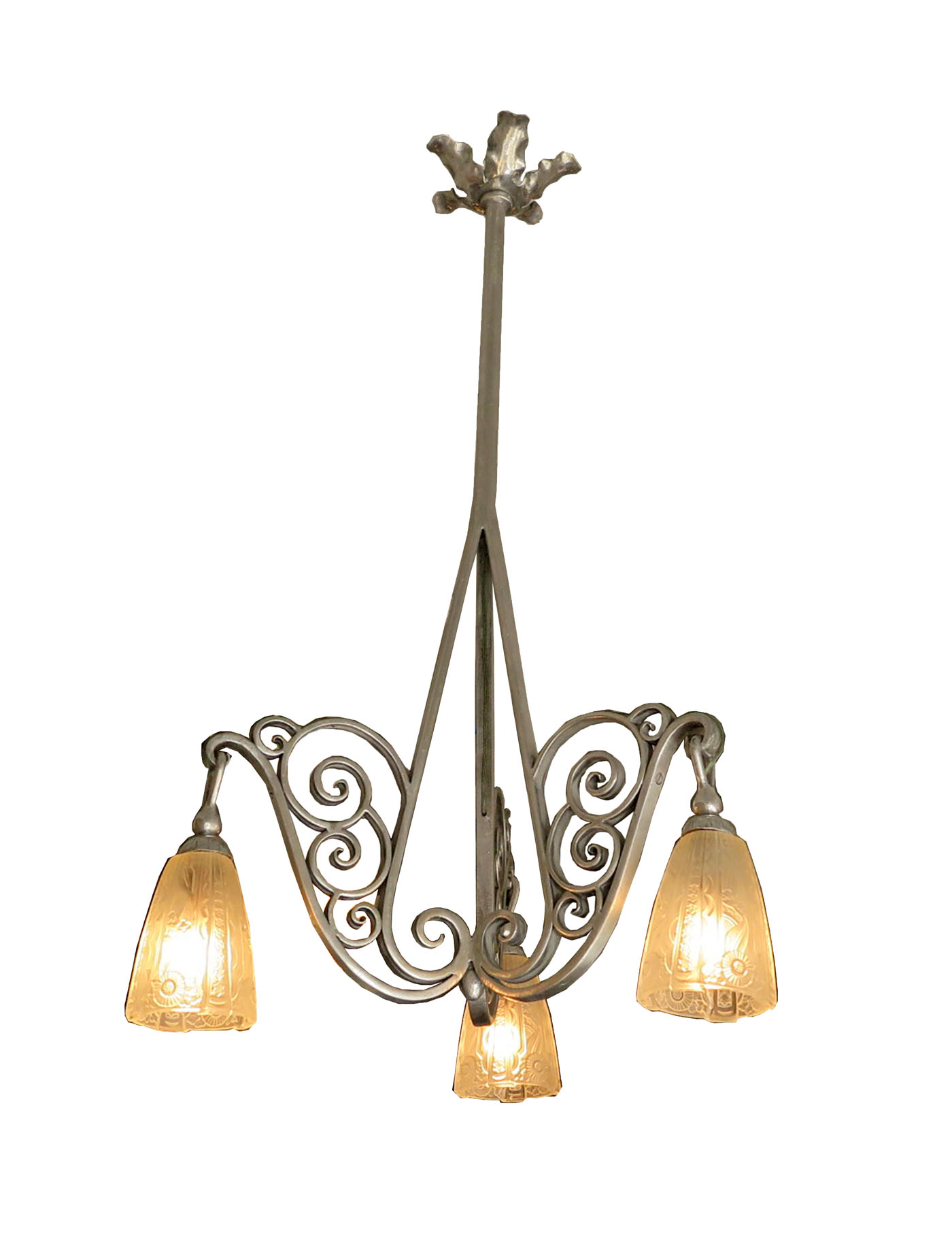 French art deco chandelier modernism french art deco chandelier arubaitofo Choice Image