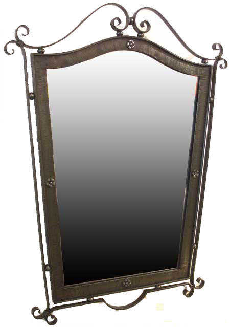 French forties art deco wrought iron mirror modernism for Wrought iron bathroom furniture