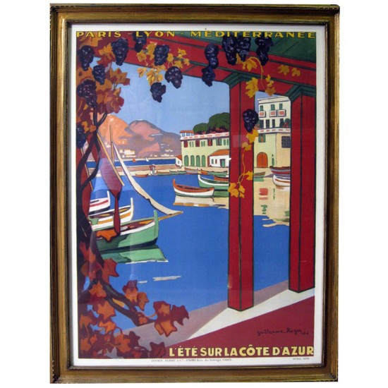 French Art Deco Railway Cote D Azur Poster Modernism