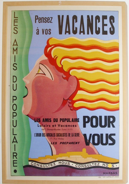 French Art Deco Vacances Poster by Marsas Streamline | Modernism