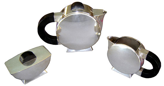 French Art Deco Tea Set By Christian Fjerdingstadt