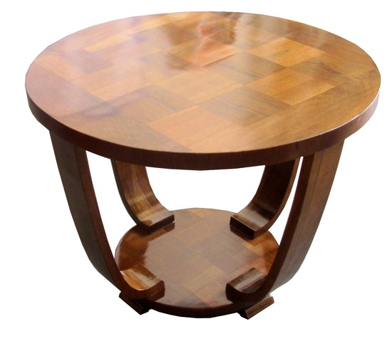 Art Deco Rosewood Palissandre Parquetry Coffee Table
