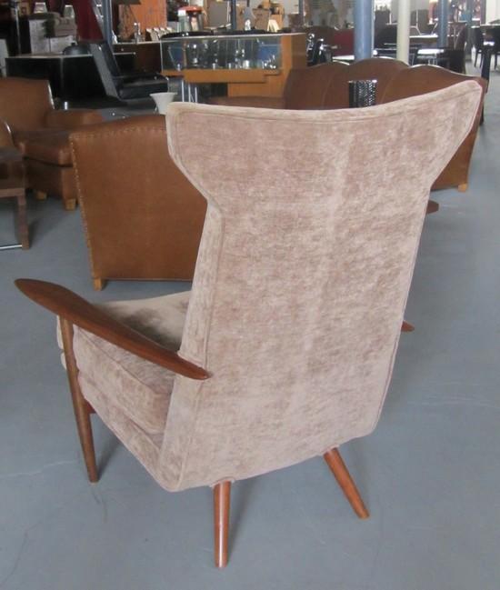 George nakashima mid century modern hi back lounge chair for Mid century modern furniture hawaii