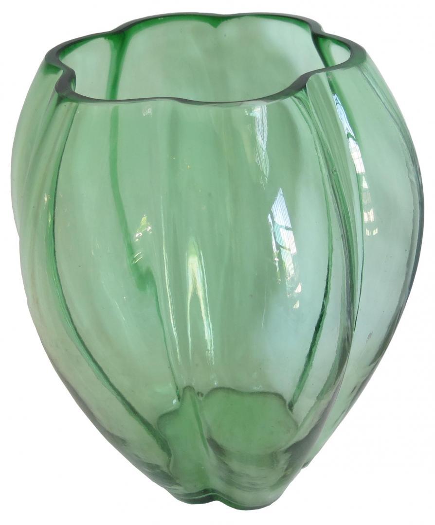 american art deco vase by george sakier for fostoria modernism. Black Bedroom Furniture Sets. Home Design Ideas