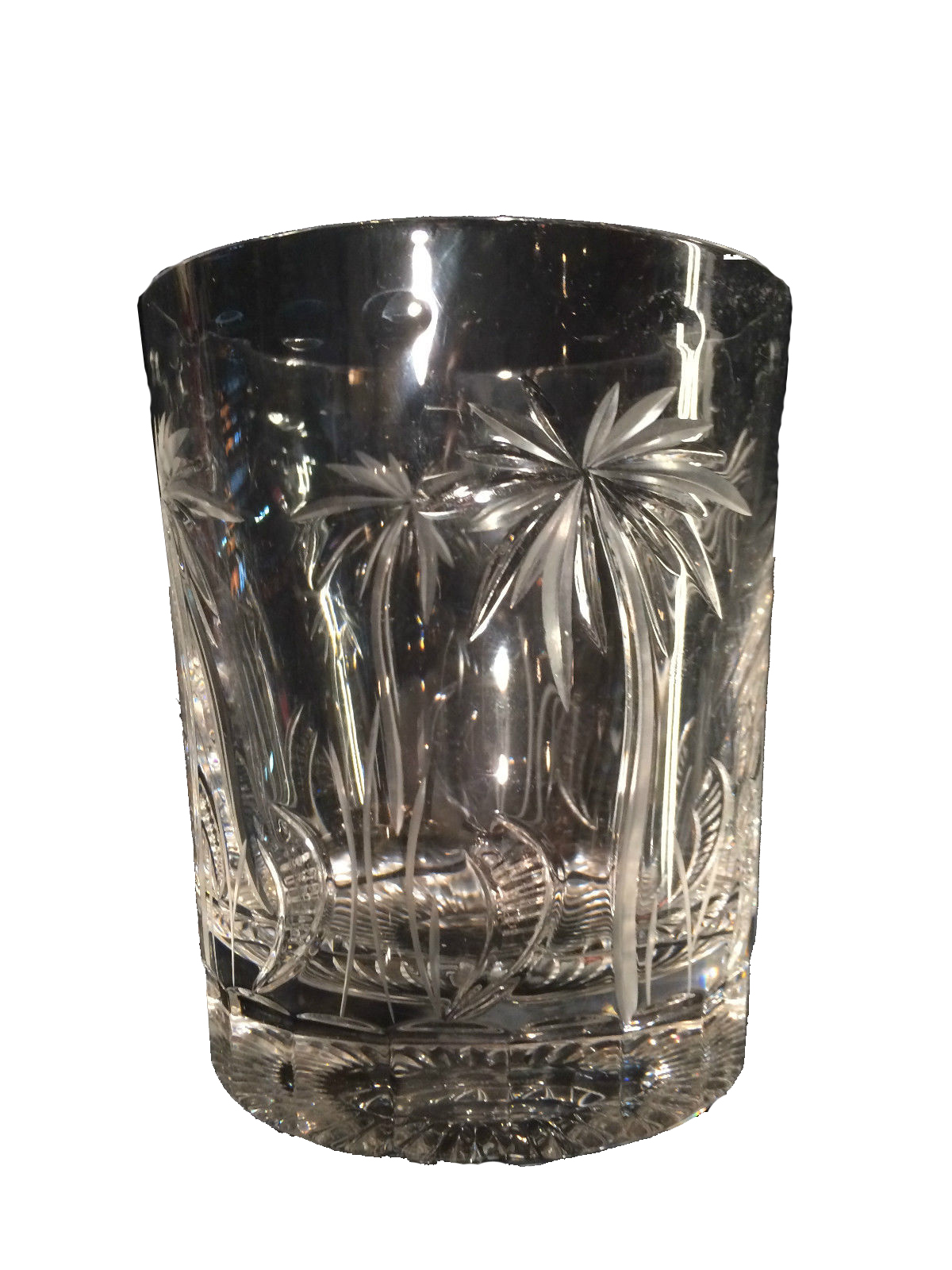 William Yeoward Crystal Glasses In Palm Tree Motif Set Of